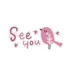 ✳︎北欧✳︎小鳥の毎日スタンプ✳︎(個別スタンプ:36)