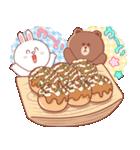 BROWN & FRIENDS : 幸せな食べ物(個別スタンプ:34)