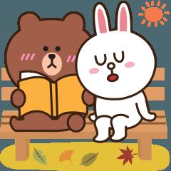 [LINEスタンプ] 優しい秋の日♡BROWN & FRIENDS