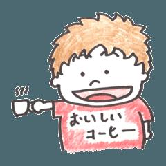 [LINEスタンプ] coffee stand 早川亭 亭主くんスタンプ