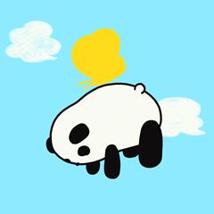 [LINEスタンプ] パンダの大福