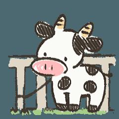 [LINEスタンプ] ベランダ牛