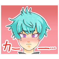 [LINEスタンプ] 緑髪黒服ちゃんスタンプ