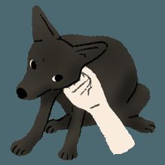 [LINEスタンプ] 黒犬しぐさ