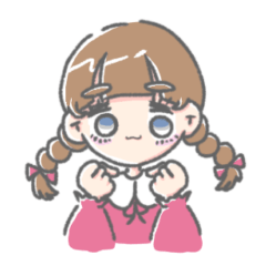 [LINEスタンプ] 関西のかわいいおさげちゃん