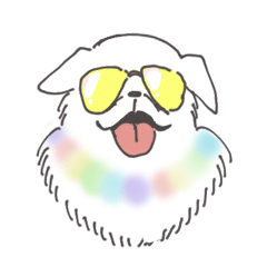[LINEスタンプ] 大きい犬セット