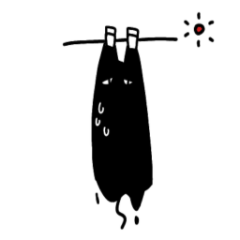 [LINEスタンプ] 溶ける猫