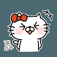 [LINEスタンプ] にゃんこりぼん◎毎日使えるスタンプ #1