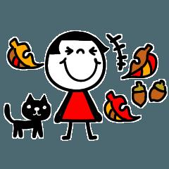 [LINEスタンプ] mottoの省スペース☆ぱっつんボブガール2