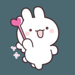 [LINEスタンプ] あなたを応援!ウサギ天使