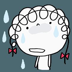 [LINEスタンプ] デカ顔多め☆くるリボン