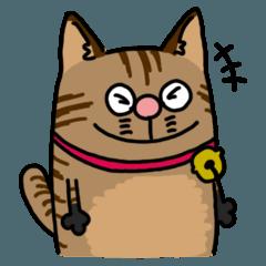 [LINEスタンプ] 【スタンプの日】キジトラの猫!!