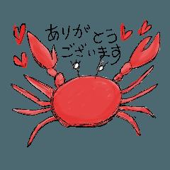 [LINEスタンプ] 蟹クラブ
