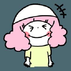 [LINEスタンプ] LINEスタンプの日 お祈りガール