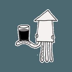 [LINEスタンプ] カッパとイカ