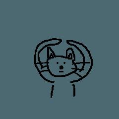 [LINEスタンプ] イヌかネコかキツネ