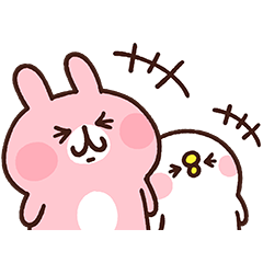 [LINEスタンプ] 【スタンプの日】カナヘイのピスケ&うさぎ