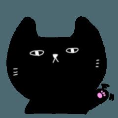 [LINEスタンプ] 黒いのらねこ 2