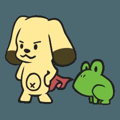 [LINEスタンプ] DogMan & Flog