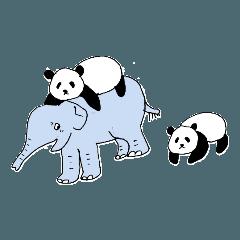 [LINEスタンプ] こどものゾウと小さなお友達