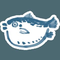 [LINEスタンプ] 味のあるフグ