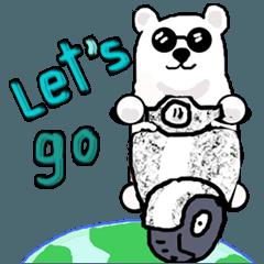 [LINEスタンプ] かわいいシロクマのステッカー White Bear