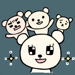 [LINEスタンプ] あんなクマ、こんなクマ