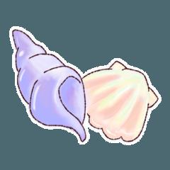 [LINEスタンプ] 海に住む生き物たち