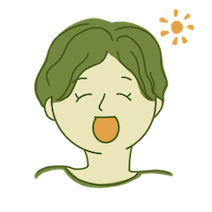 [LINEスタンプ] 中性的な人間の表情
