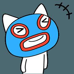 [LINEスタンプ] 定番風☆ねこマスクマーン